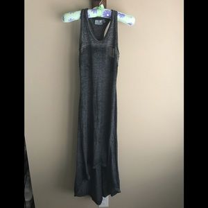 Athleta Gray Hi-Lo Opaque Racerback Maxi Dress XXS